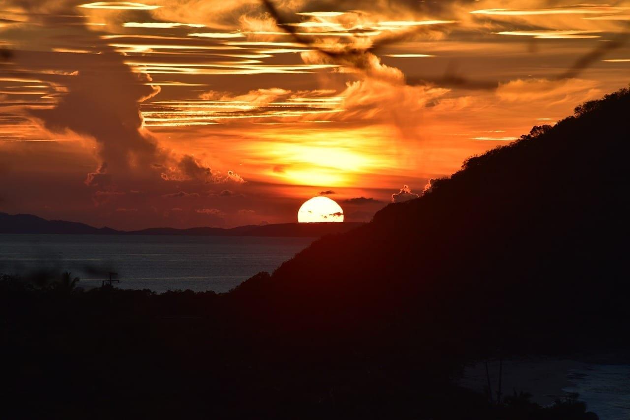 Puesta De Sol Tortola Caribe Islas Vírgenes del Reino Unido