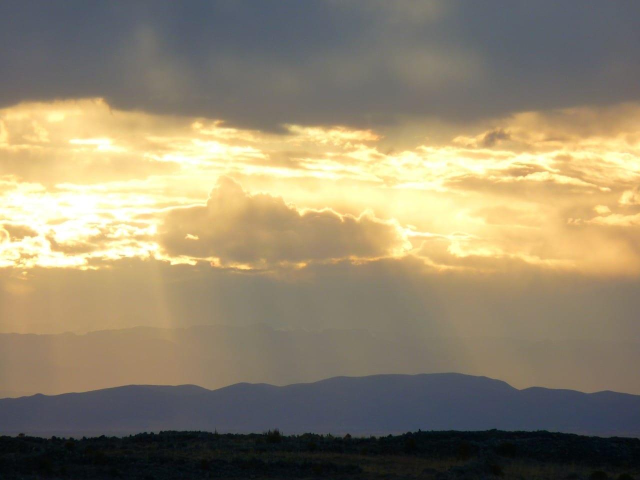 Puesta Del Sol Abendstimmung Lago Titicaca Perú