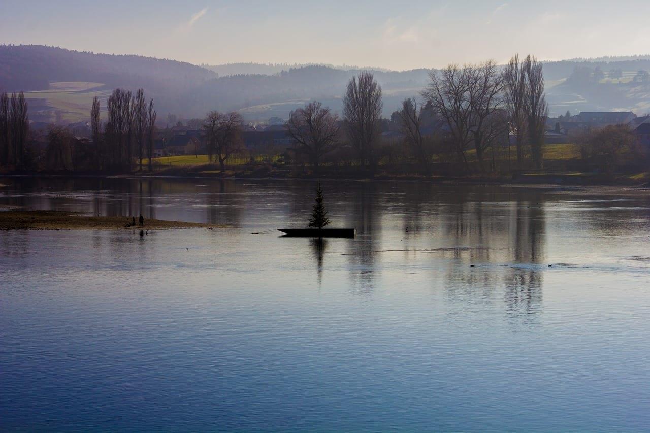 Puesta Del Sol Stein Am Rhein Suiza Suiza