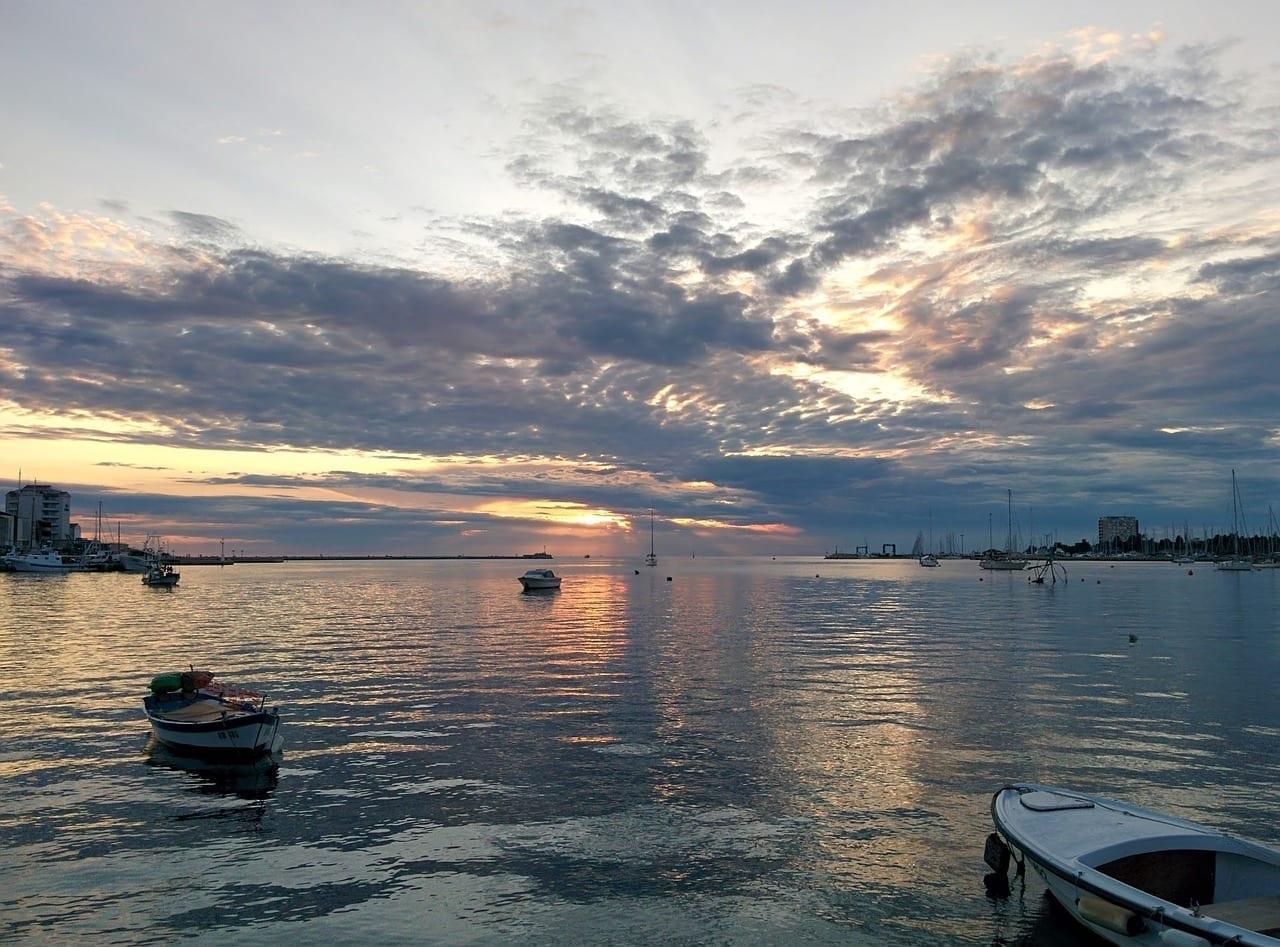 Puesta Del Sol Umag Croacia Croacia