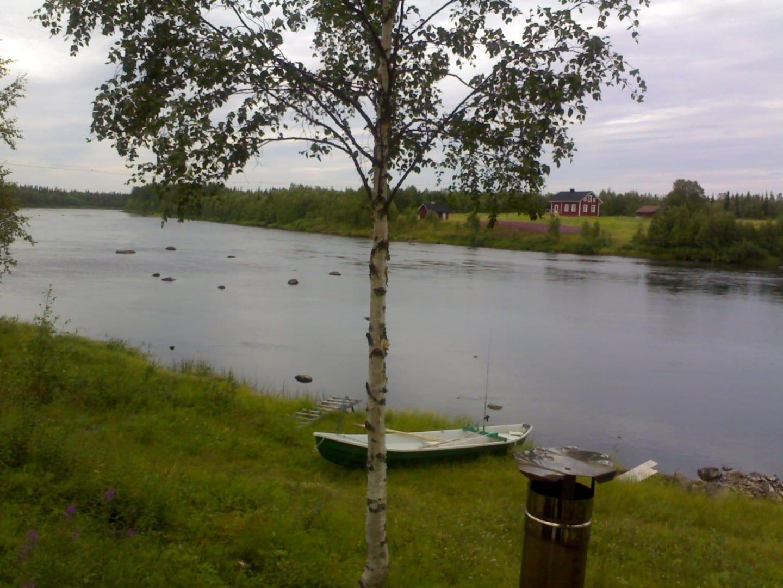 Río Ounasjoki Kittilä Finlandia