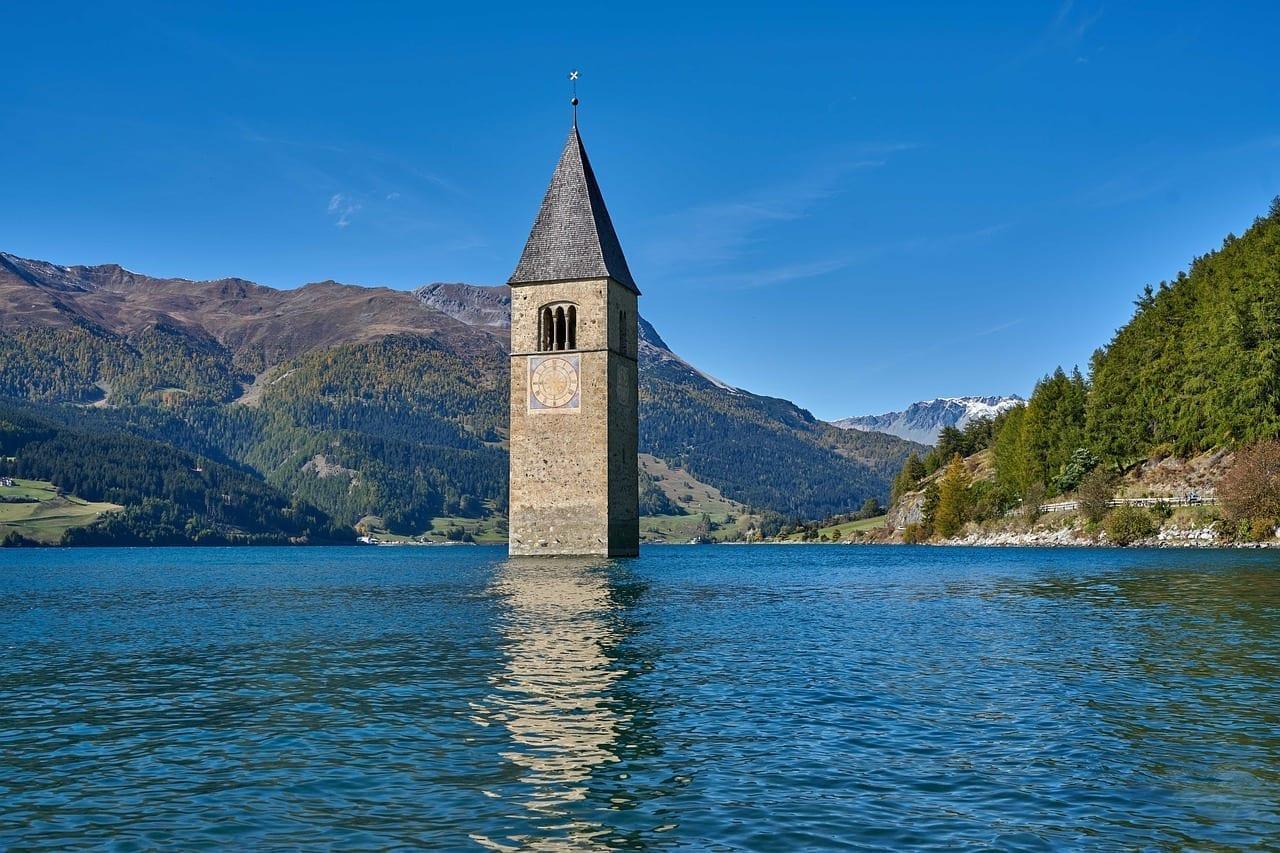 Reschensee Tirol Del Sur Italia Austria