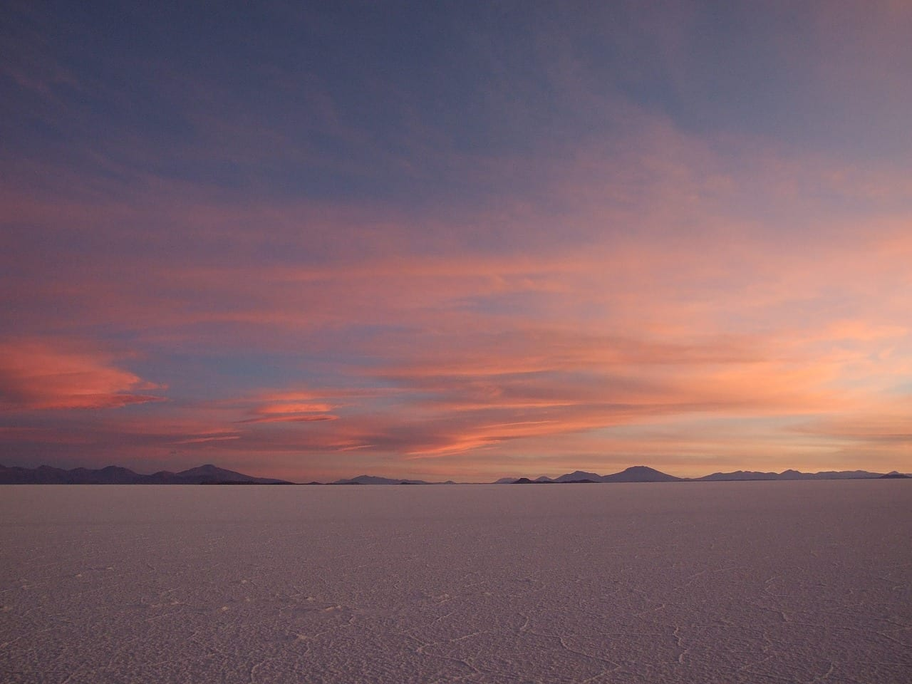 Salar Uyuni Puesta De Sol Bolivia