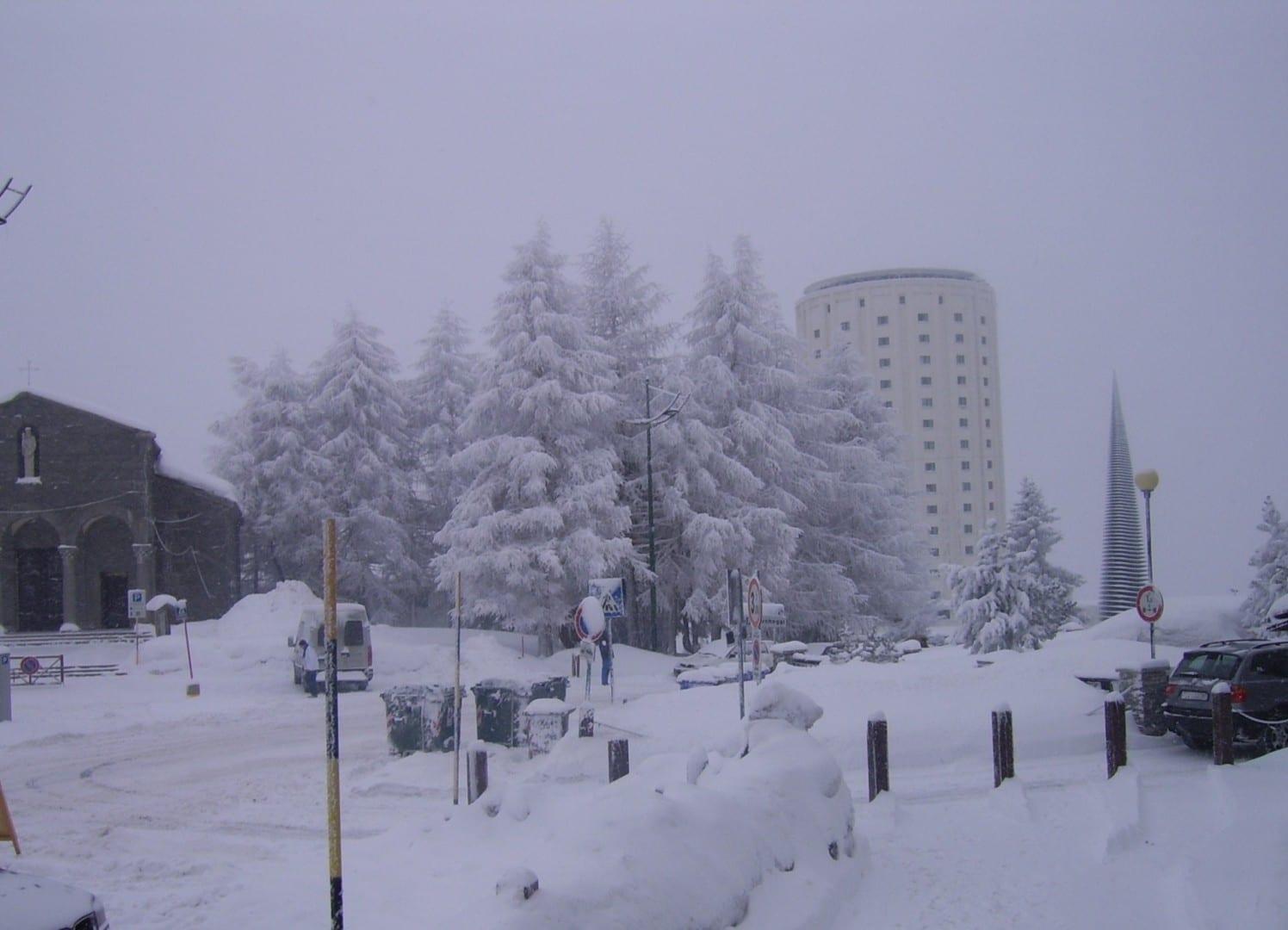 Sestriere en invierno Sestriere Italia