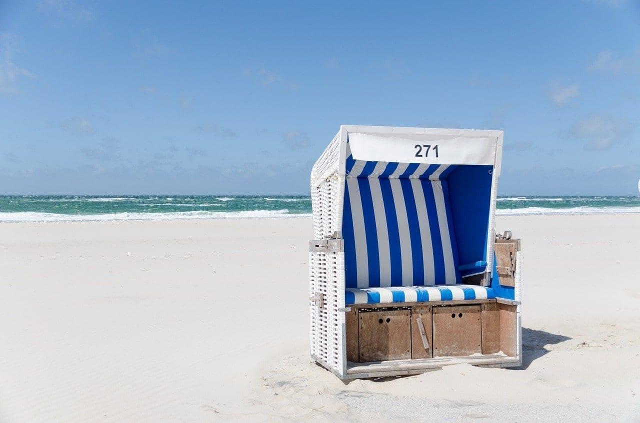 Silla De Playa Playa Westerland Alemania