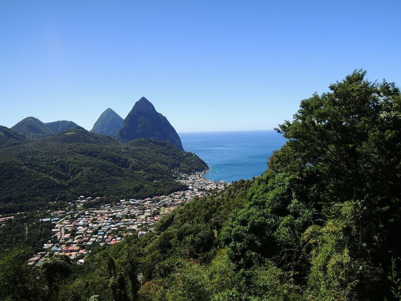 St Lucia Isla Del Caribe Santa Lucía Santa Lucía