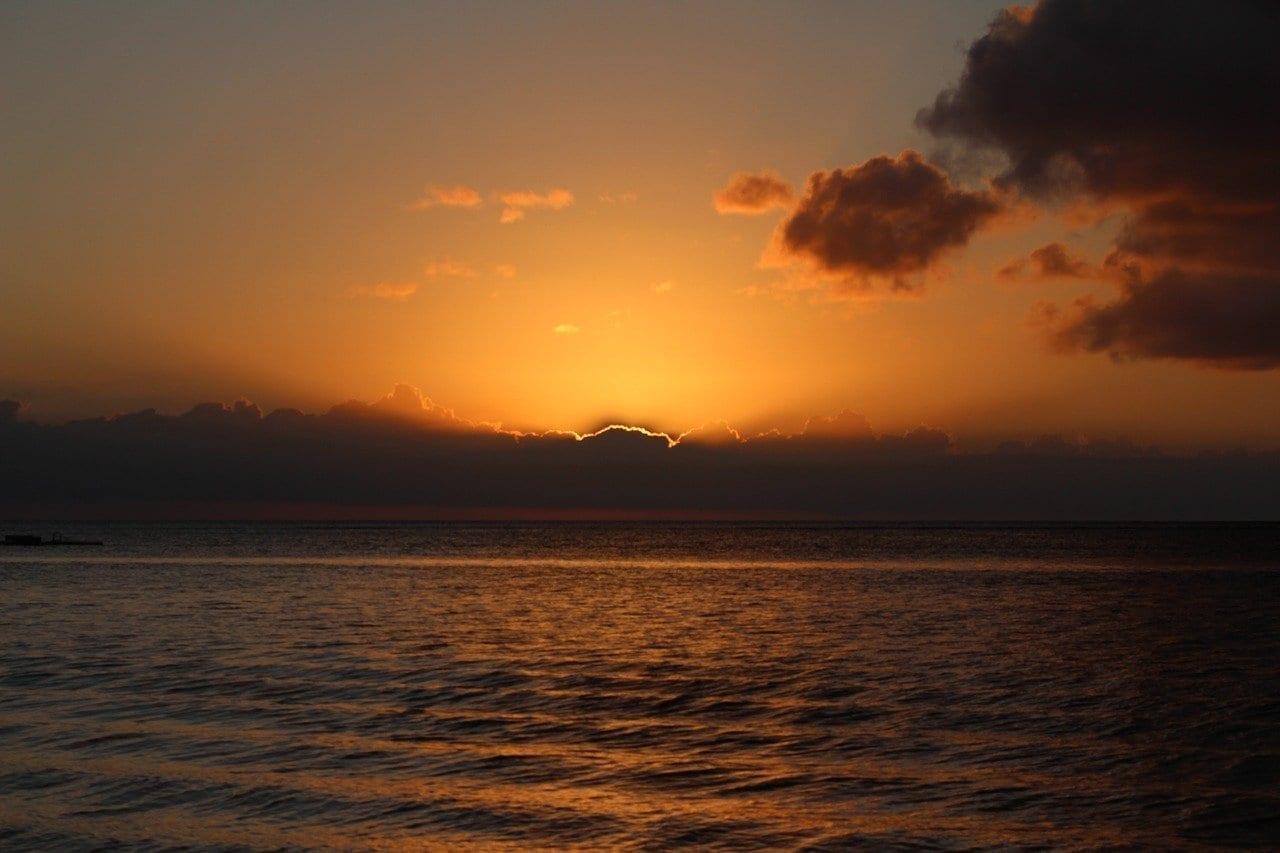 Sun Puesta Del Sol Mauricio Mauricio