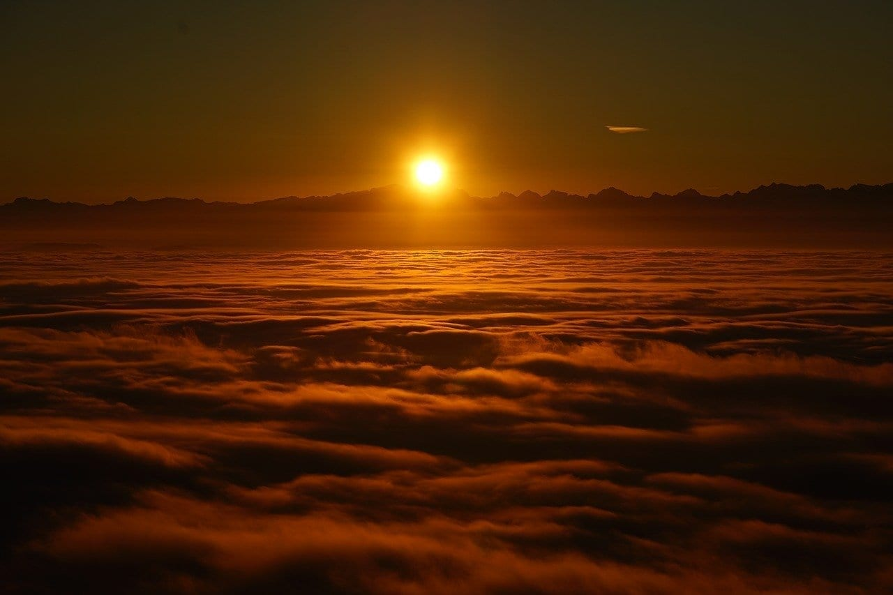 Sunrise Marina De Selva Nubes Italia