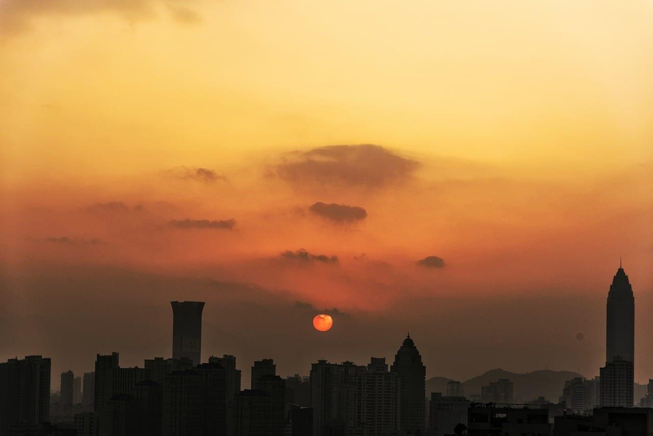Sunrise Wenzhou Puesta De Sol China