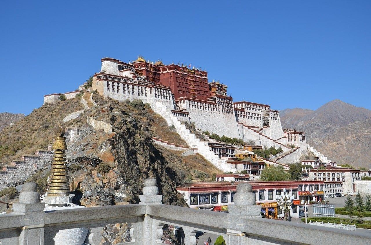 Tíbet Lhasa El Palacio De Potala China