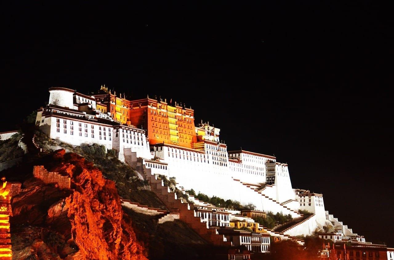 Tíbet Lhasa Vista De Noche China