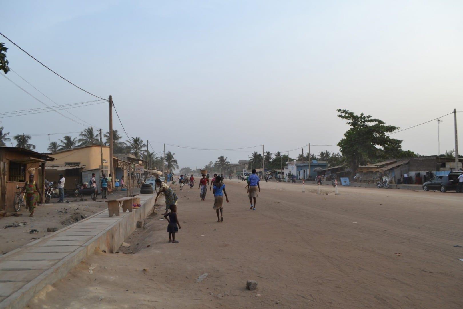 Tarde cerca del puerto de Lomé en 2013 Lomé Togo