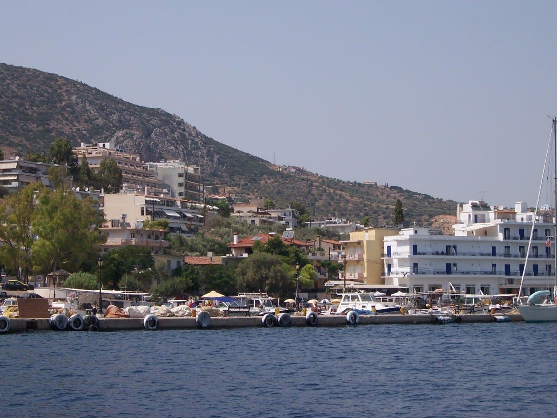 Tolo desde el barco Tolo Grecia