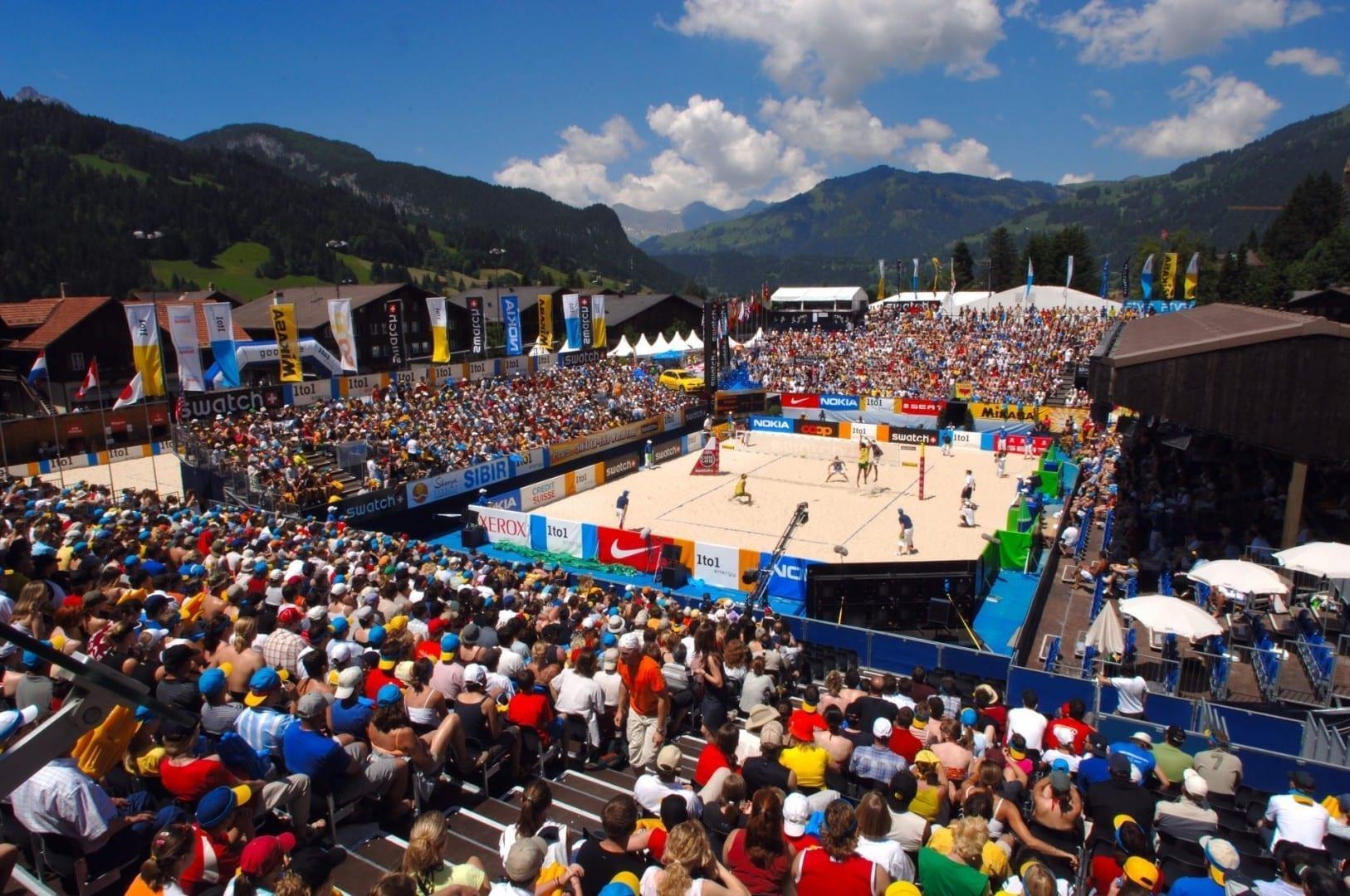 Torneo de voleibol de playa Gstaad-court: Roy Emerson Arena Gstaad Suiza