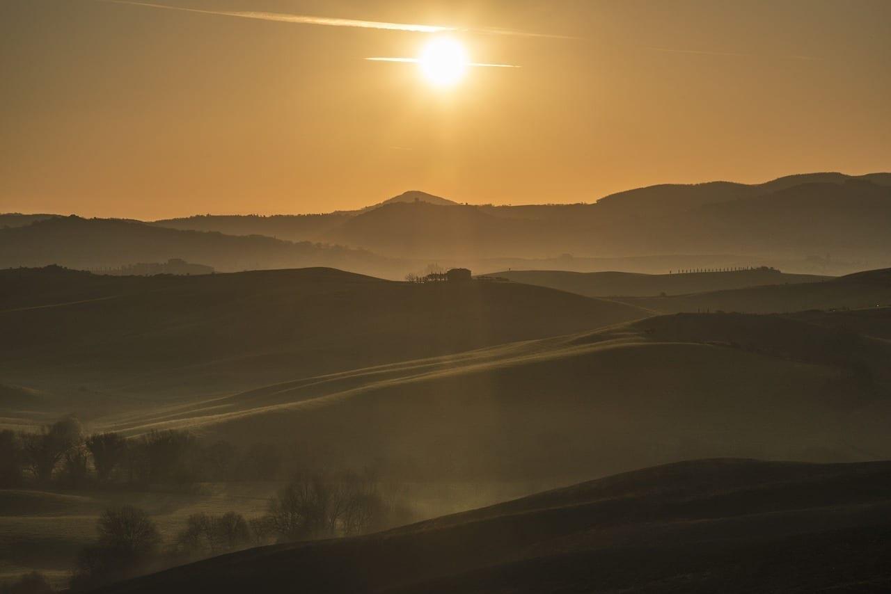 Toscana Paisaje Sol Italia