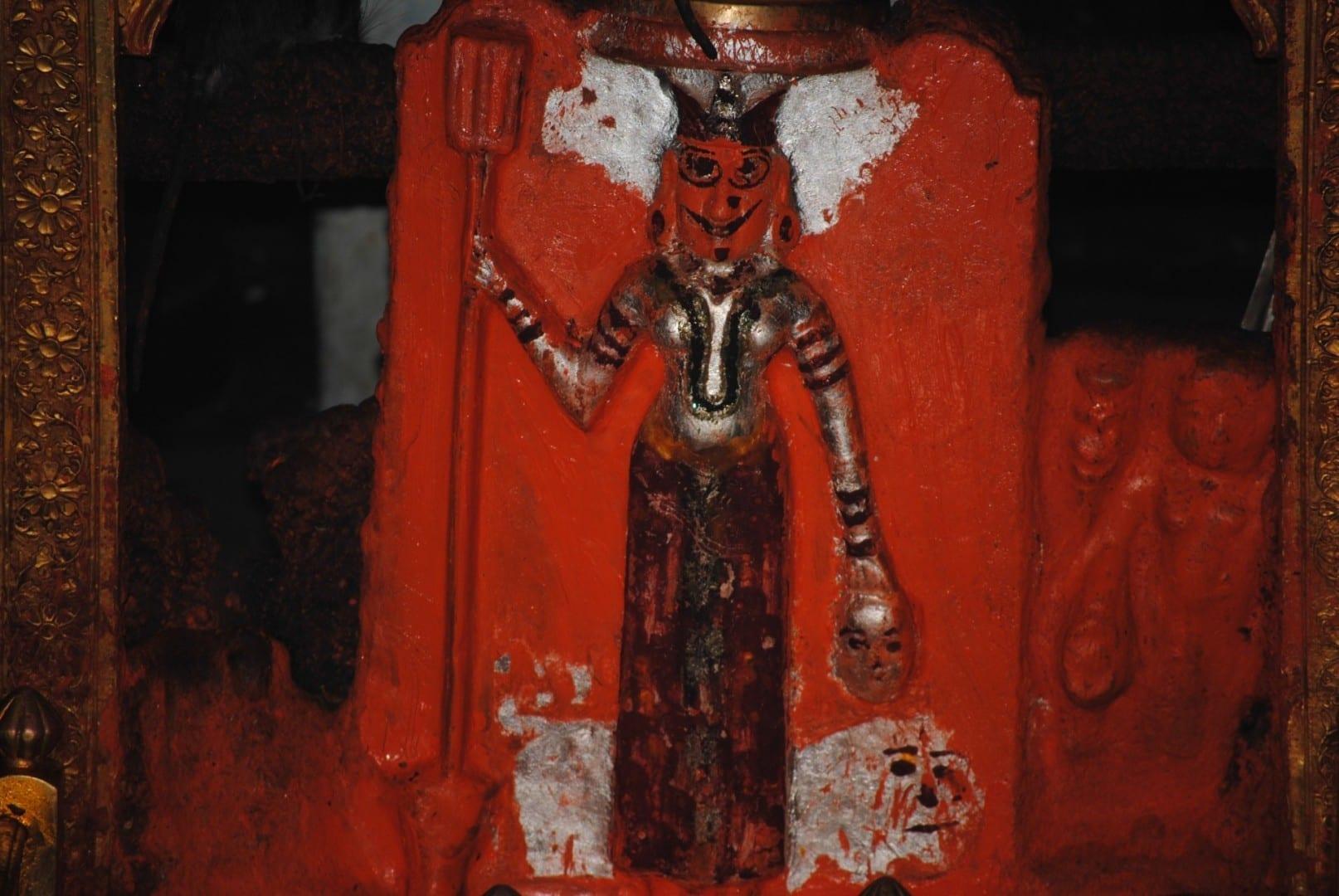 Un ídolo en el Templo Karni Mata Bikaner India