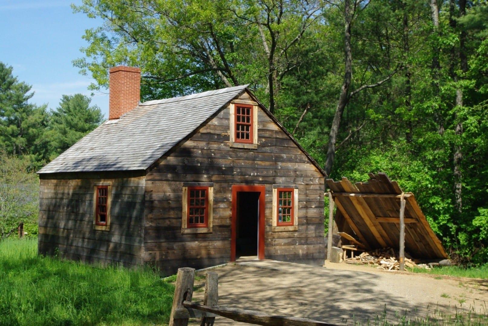 Una pequeña casa en Old Sturbridge Village Sturbridge MA Estados Unidos