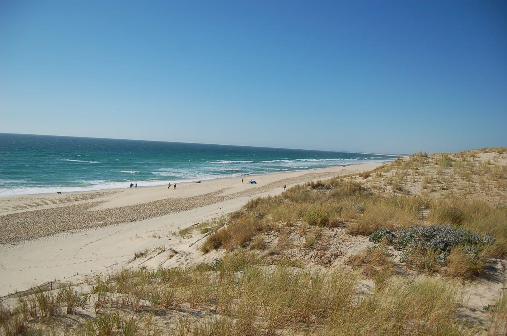 Una playa en Biscarrosse-Plage Biscarrosse Francia
