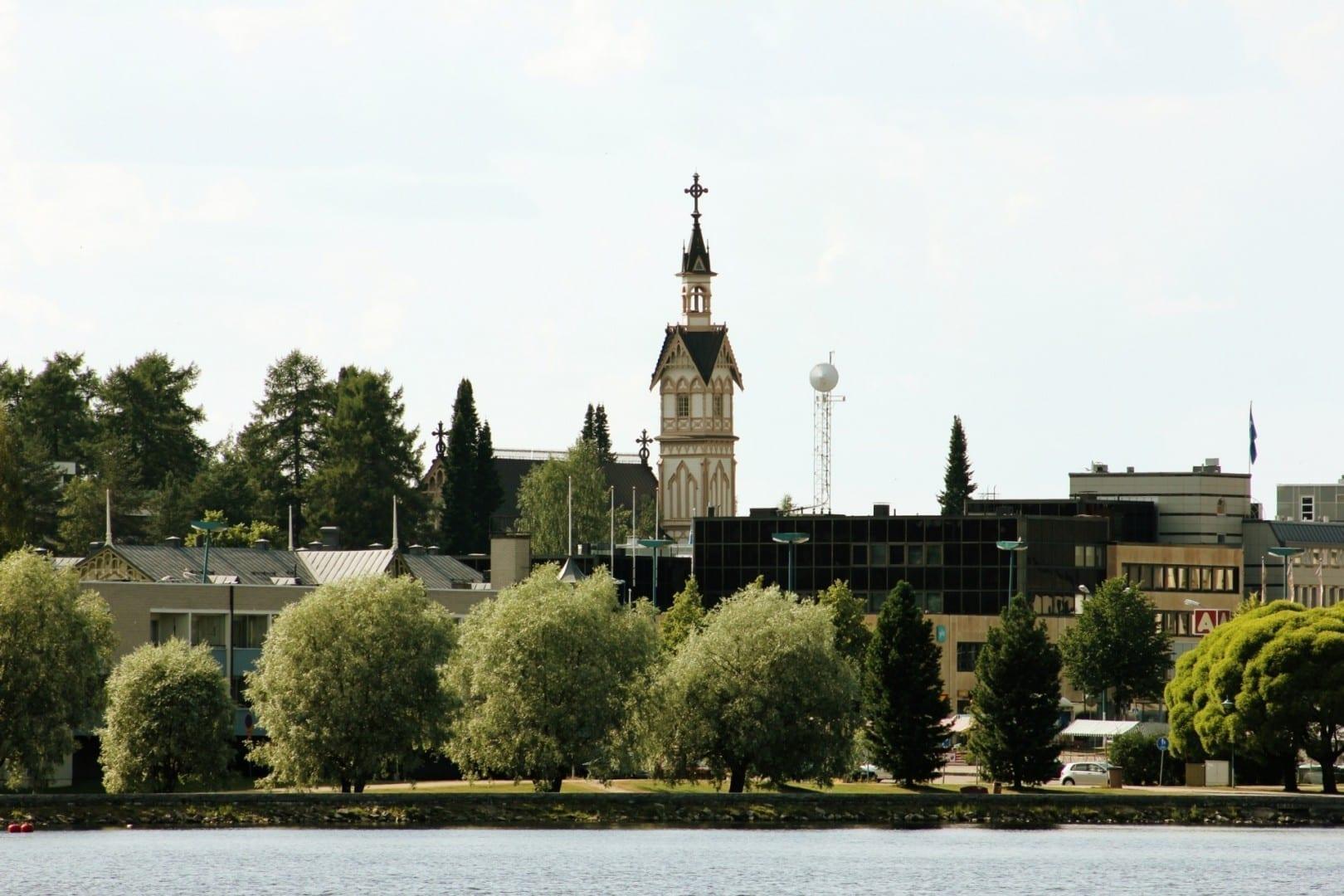Una vista del centro de Kajaani. Kajaani Finlandia