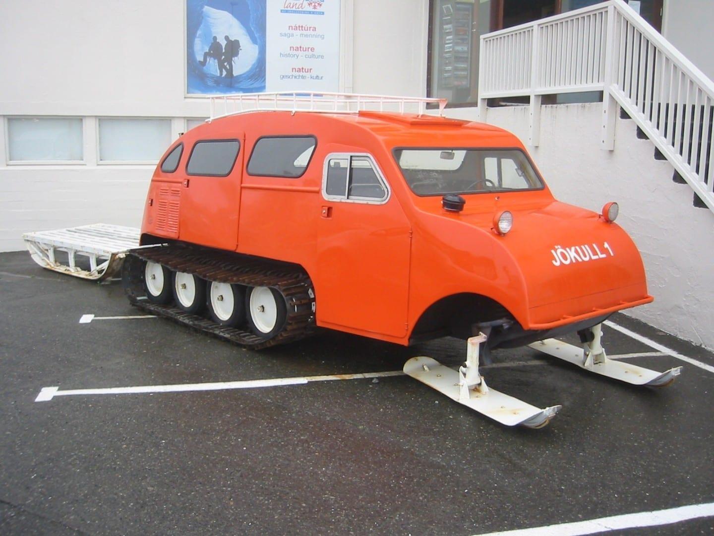 Vehículo para visitar los glaciares Höfn Islandia