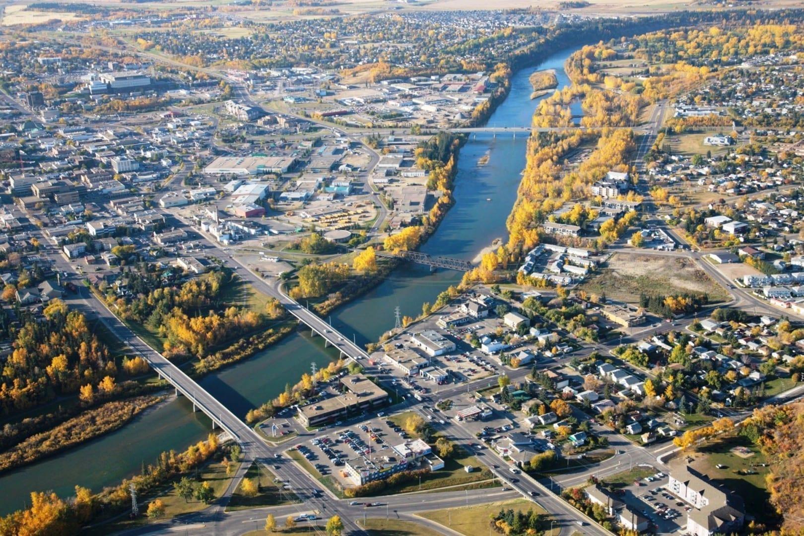 Venado del centro de la ciudad Red Deer Canadá