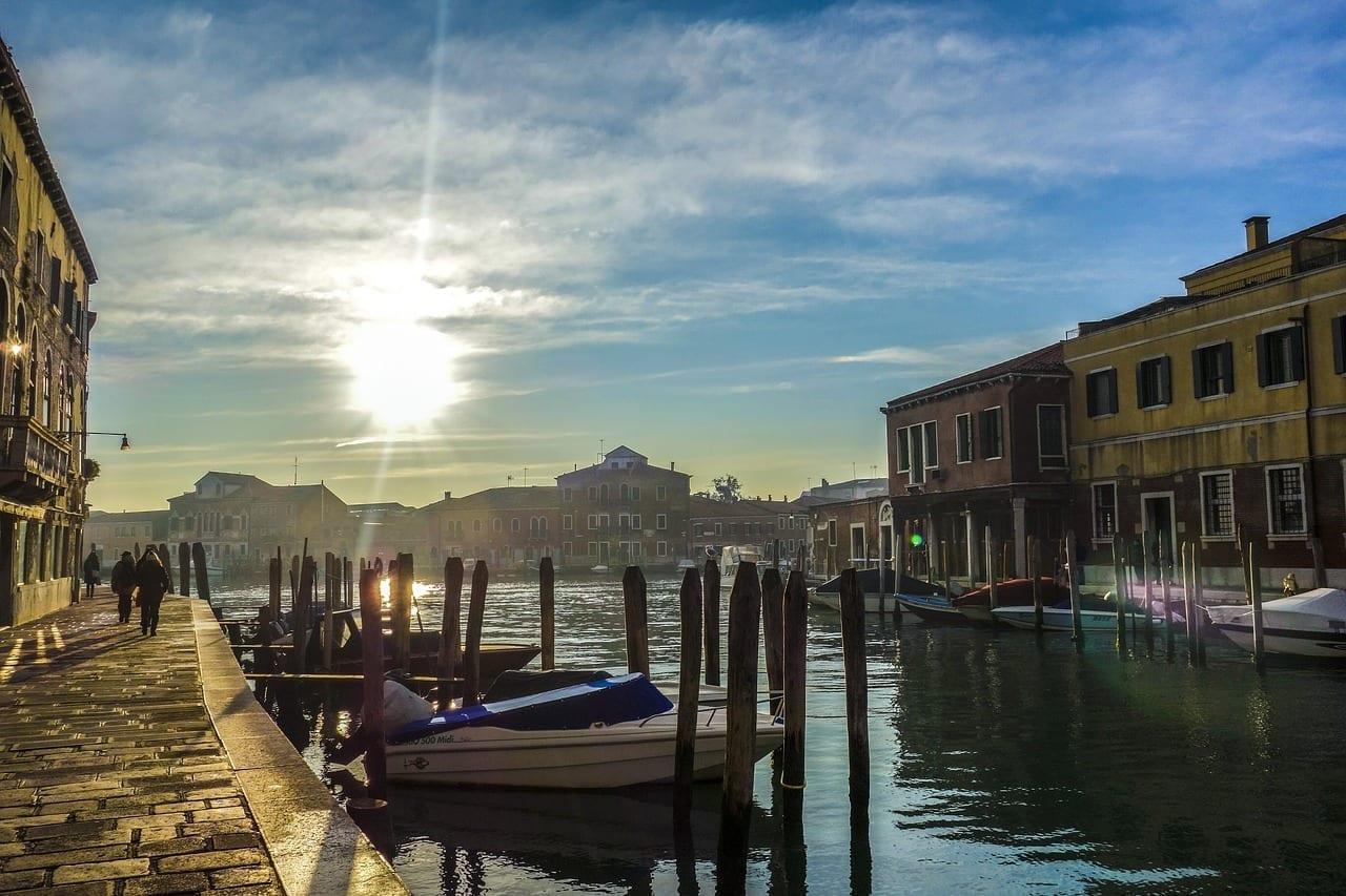 Venecia Murano Vías Navegables Italia