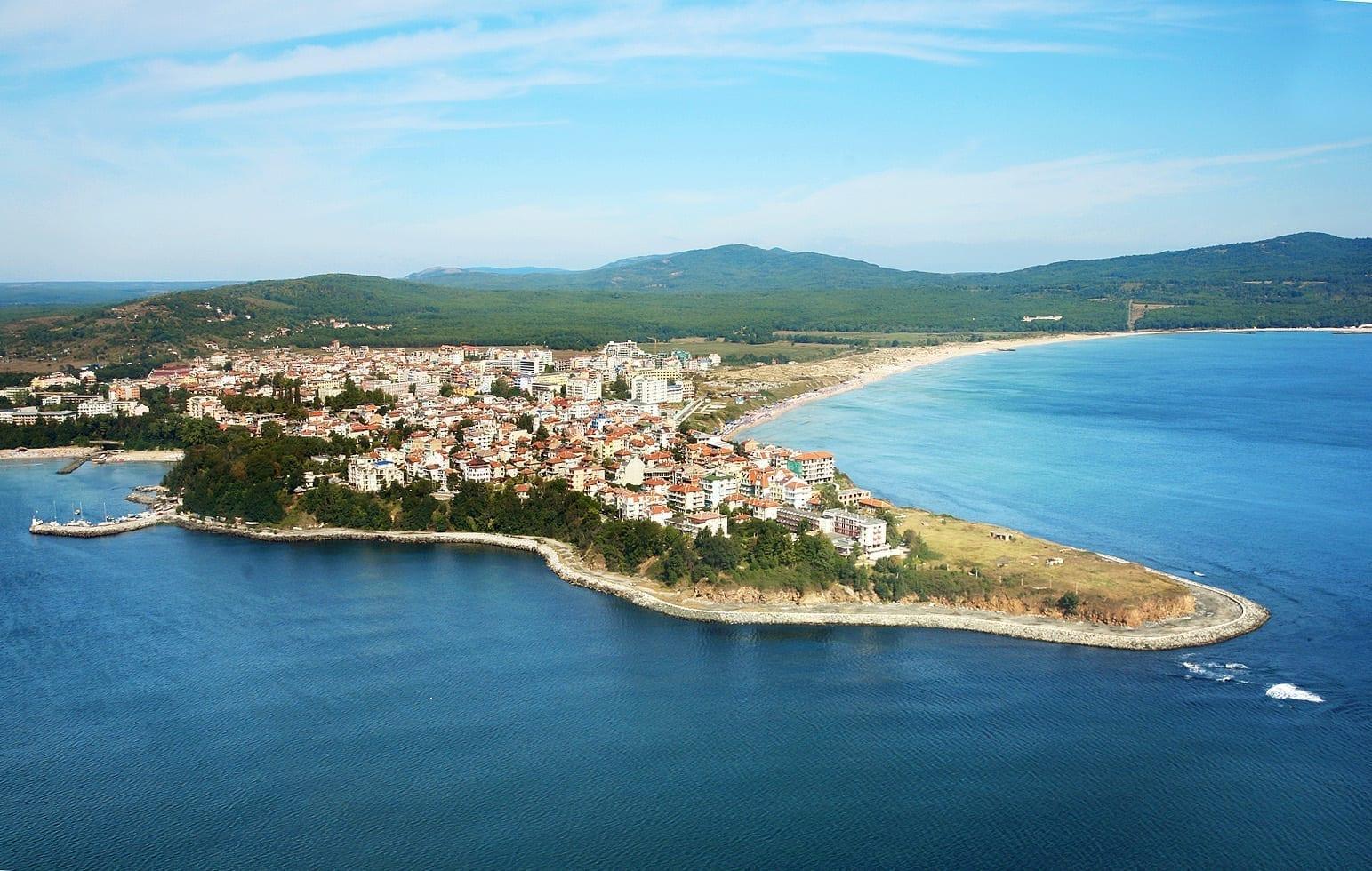 Vista aérea de Primorsko Primorsko Bulgaria