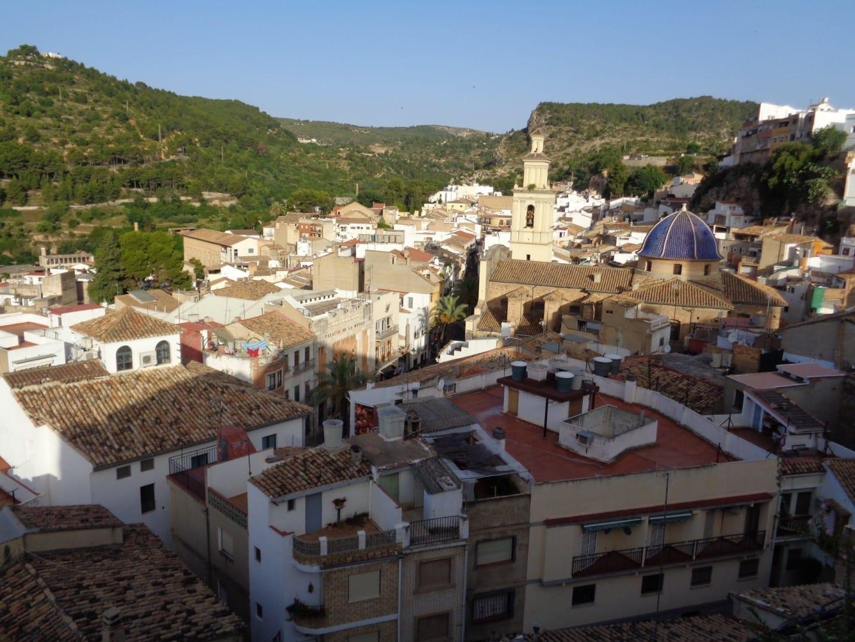 Vista de Buñol desde el castillo Buñol España