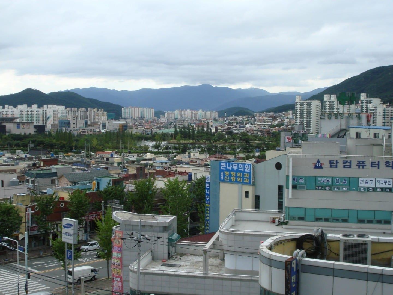 Vista de Gimhae Gimhae Corea del Sur