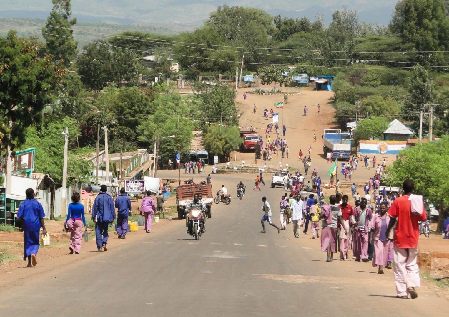 Vista de la calle Konso Etiopía