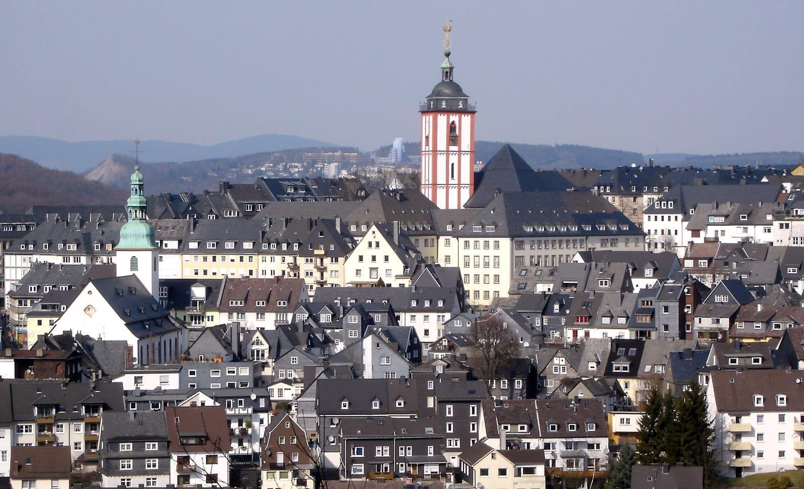Vista de la parte alta de la ciudad de Siegen Siegen Alemania