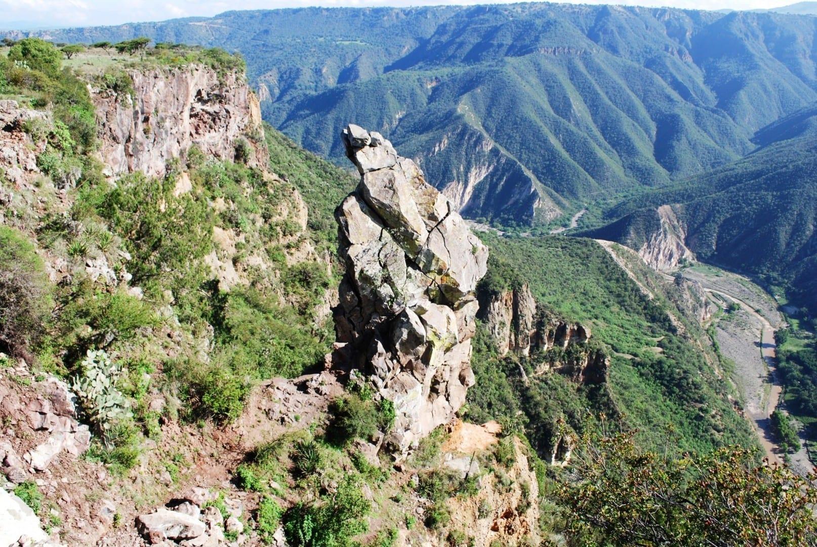 Vista de la Peña del Aire Huasca de Ocampo México