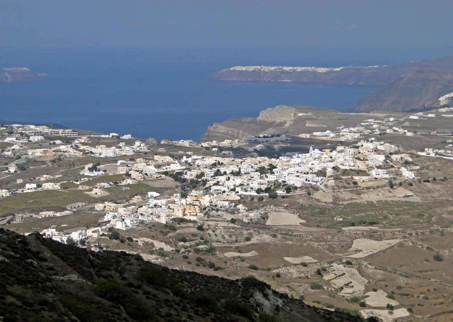 Vista de Pyrgos desde el Monte Profitis Ilias Pyrgos Grecia