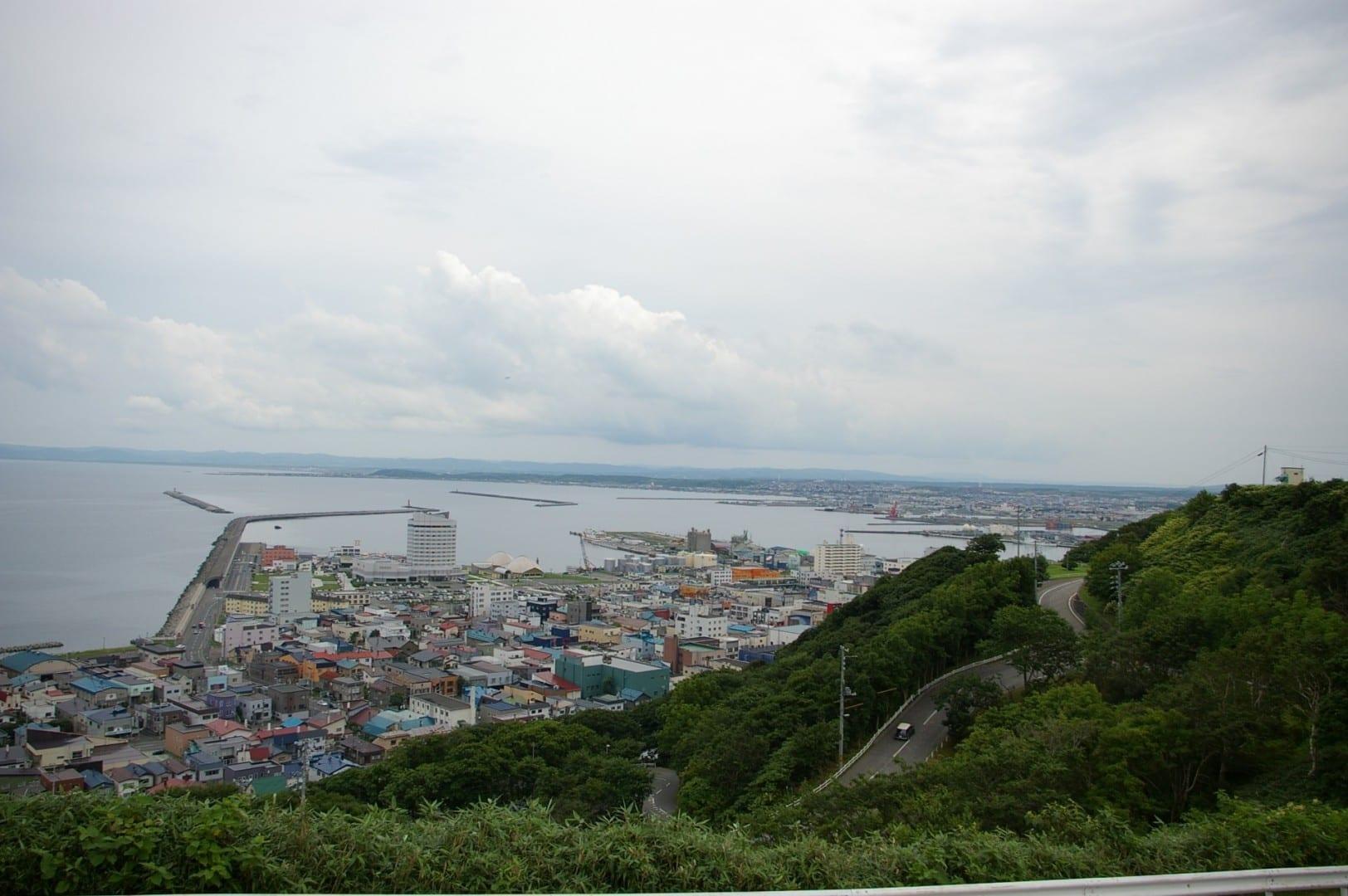 Vista de Wakkanai desde el parque de la ciudad Wakkanai Japón
