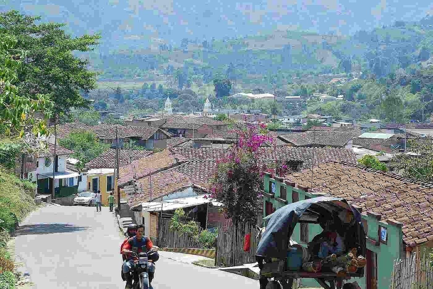 Vista del pueblo San Agustín (Huila) Colombia