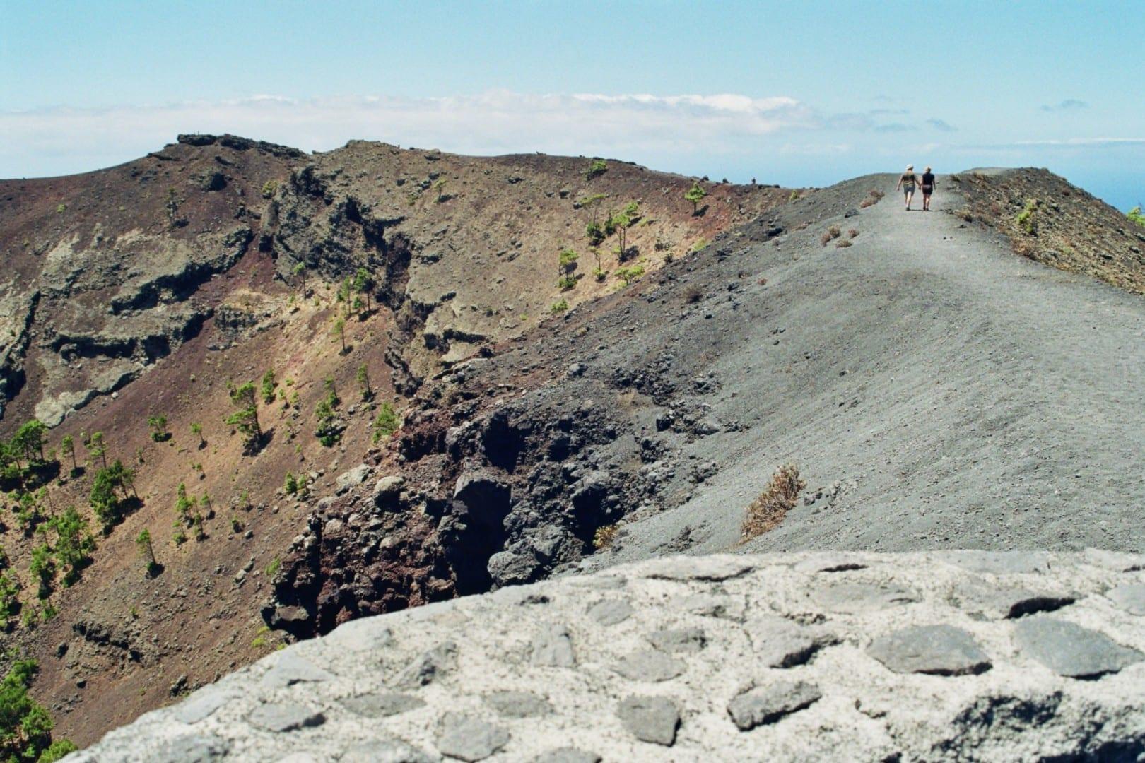 Volcano San Antonio near village Fuencaliente La Palma España