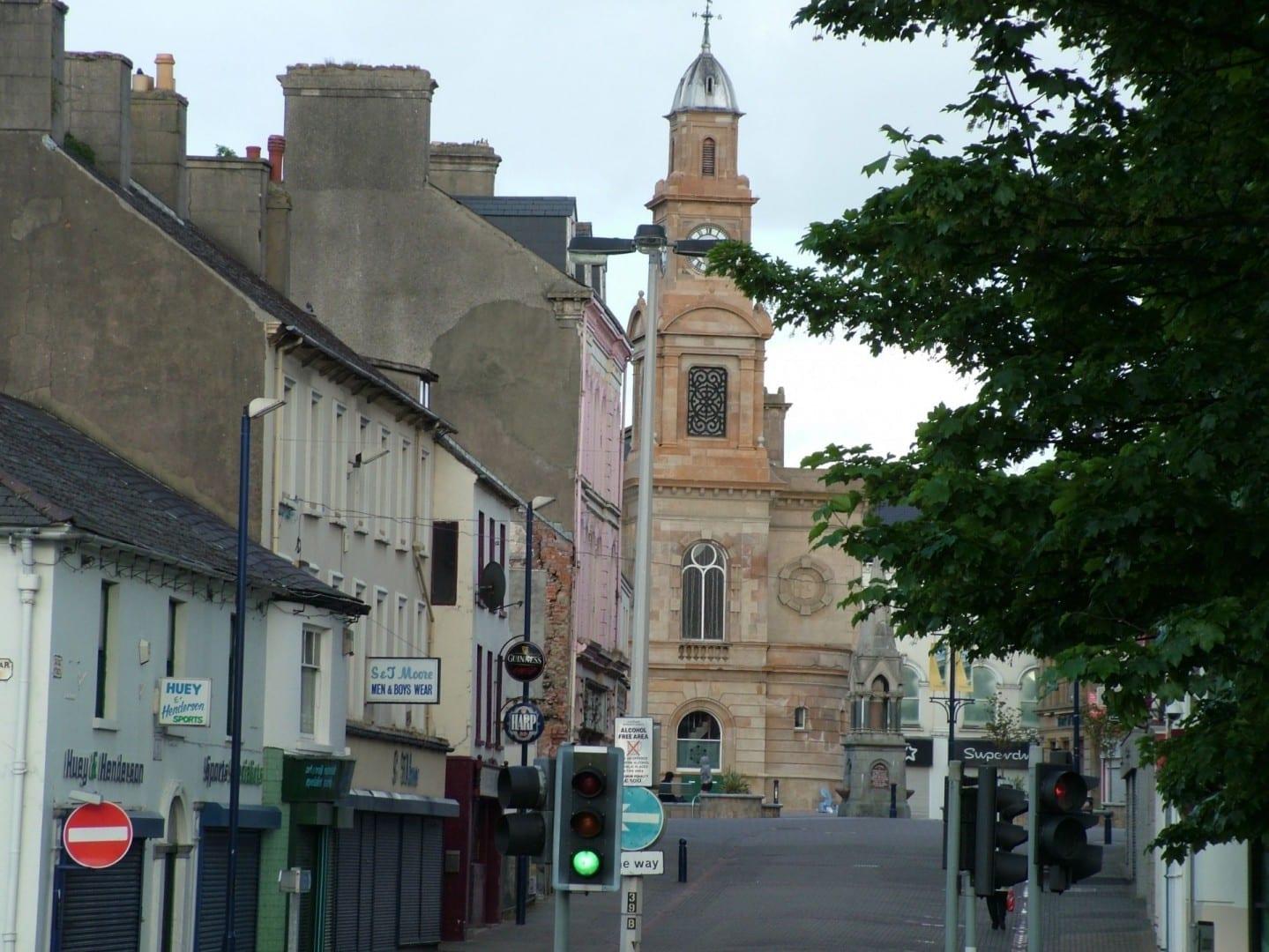 Zona peatonal de Coleraine Coleraine Reino Unido